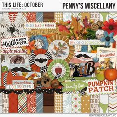 Wednesday's Guest Freebies ~ penny's Miscellany  ✿ Follow the Free Digital Scrapbook board for daily freebies: https://www.pinterest.com/sherylcsjohnson/free-digital-scrapbook/ ✿ Visit GrannyEnchanted.Com for thousands of digital scrapbook freebies. ✿ pm-thislife-october