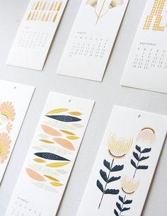 花朵 清新風格圖樣 年曆設計 | MyDesy 淘靈感