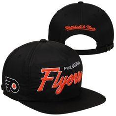 da88c6125 Mitchell   Ness Philadelphia Flyers Special Script Zipback Adjustable Hat -  Black