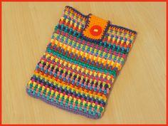 A Bunch Of Buttons: iPad Cozy.  ☀CQ #crochet #bags #totes  http://www.pinterest.com/CoronaQueen/crochet-bags-totes-purses- cases-etc-corona/