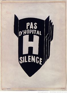 savage-america: Pas d'hopital, silence Paris May General Strike, Letterpress Printing, Chevrolet Logo, Savage, America, Retro, Logos, Prints, Golden Age