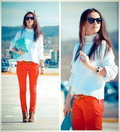 Color Contrast. light blue + orange