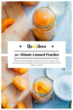After something bright and fresh for the season? This canned peaches recipe will bring a bit of dessert inspiration to your cooking.#recipe #dishes #fruit #dessert #cooking #peaches