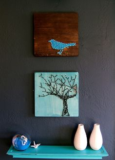 2. String Art - 7 DIY Wall Decorations to Add Personality to Your Dorm ... | All Women Stalk