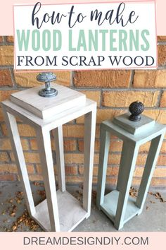 How to Make Wood Lanterns from Scrap Wood - Easy Woodworking Project, Diy And Crafts, Happy Fall! The weather is cooling down here in Denver and it is time to welcome fall with beautiful color change, gatherings with family and friends,. Wood Projects For Beginners, Scrap Wood Projects, Easy Woodworking Projects, Diy Projects, Fine Woodworking, Popular Woodworking, Scrap Wood Art, Diy Wood Projects For Men, Scrap Wood Crafts