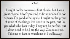 I am the way God made me