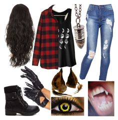 Designer Clothes, Shoes & Bags for Women Girl Werewolf Costume, Wolf Costume Women, Werewolf Girl, Teen Wolf Outfits, Edgy Outfits, Cool Outfits, Fashion Outfits, Fashion Women, Women's Fashion