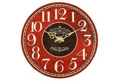 Classic Wall Clock, Red