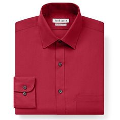 Van Heusen Classic-Fit Pincord Spread-Collar Dress Shirt - Men