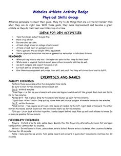 Webelos Activity Badge Resources - Las Colinas District Boy Scouts ...