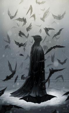 Batman With Bat In Cave HD Wallpaper