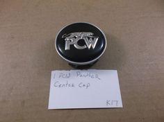 "PCW PANTHER BLACK-SILVER WHEEL CENTER CAP 2-5/16"" HUB COVER K17 #oemfactorystockgenuinePCW"