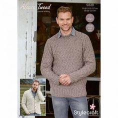 c872fcc73 Cardigan   Sweater in Stylecraft Alpaca Tweed DK. Men s Knitting Patterns  ...
