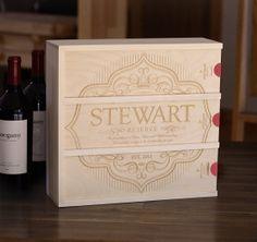 Anniversary Wine Box  Label of Love by BoxforaBottle on Etsy, $139.00