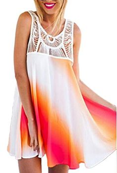 Smile YKK Women Sleeveless White Orange Oblique fringe Loose Summer Casual Dress XL. Material:Lace. S:Bust 85-88cm Waist 65-67cm Hip 91-94cm Shoulder 37-39cm Length 78-80cm M:Bust 90-93cm Waist 70-72cm Hip 97-99cm Shoulder 38-40cm Length 80-82cm. L:Bust 97-100cm Waist 76-80cm Hip 103-107cm Shoulder 39-41cm Length 82-84cm XL:Bust 104-109cm Waist 84-88cm Hip 110-116cm Shoulder 40-42cm Length 84-86cm. It's great for daily casual, ball, party, banquet and other special occasion. High Quality…