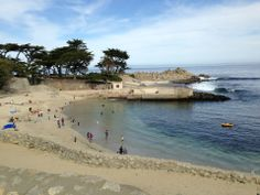 The bike path along the ocean runs all the way to Lover's Point, a beautiful place to hike around and enjoy the ocean views. #LoversPoint #PacificGrove