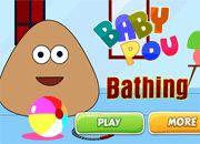 Baby Pou Bathing | Garfis juegos online