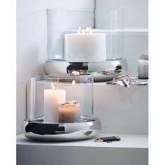 Wohnaccessoires silber  dekoideen wohnaccessoires servierbrett silber kerzen dekorative ...