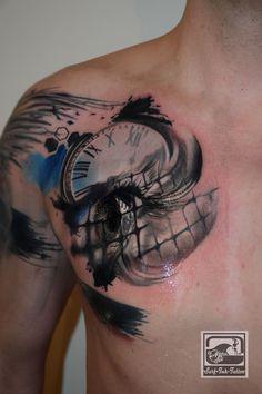 surf-ink-tattoo,trash polka style,Tattoo,kamen,Tattoo Unna,Trash style,Trash Tattoo,Trashtattoo