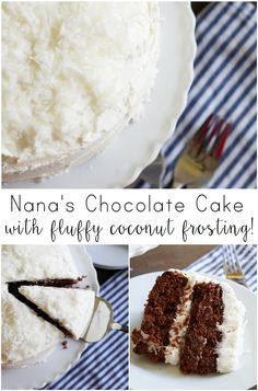 Nana McKee's Chocolate Cake (with fluffy coconut frosting) | made with ...