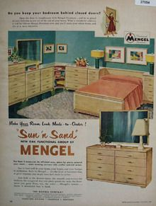 Mengel Furniture Sun And Sand Ad 1951 This Is A November 1951  Advertisement. It Is A Nice Color Ad From The Mengel Company Of Louisville,  Ky.