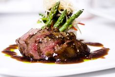 Sirloin Steak with Balsamic Reduction