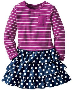 Stripes Love Dots Dress from #HannaAndersson. (Hanna Anderson 10m-12y)