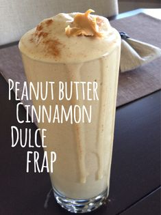 Peanut Butter Cinnamon Frappuccino recipe using vanilla Shakeology in the mix. Yum!! #healthy #recipe #smoothie