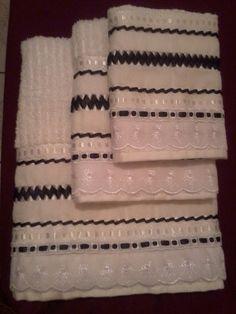 Jogo de toalhas branco
