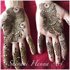 """2,052 Likes, 4 Comments - Shivani Patwa (@shivanihennaart) on Instagram: """"Henna with style and passion !! ------------------------------------------ For the booking…"""""""