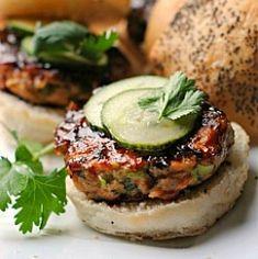 Hoisin-Glazed Salmon Burgers HealthyAperture.com