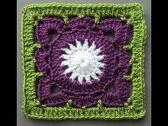 Cuadrado o granny square tejido a crochet, por dónde se empieza a tejer? Incluye diagramas ;) - YouTube