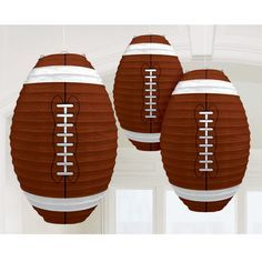Hang decorative Football Paper Lanterns for your football watch party! #football #lanterns
