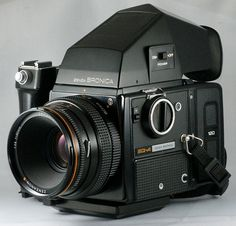 Bronica SQ w/ Prism finder and grip