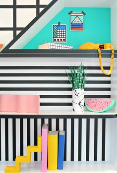 Camille Walala at Aria – The Memphis trend.