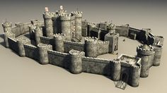3d castle construction set - castle construction set by Medievalworlds from TurboSquid.com