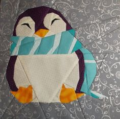 My fourth penguin (pattern Quilt Art Design). I love making them, they are so…