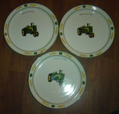 Set of 4 John Deere Dinner Plates Gibson 11  Nothing Runs Like a Deere Tractor #Gibson | I love my tractor- John Deere | Pinterest | Tractor and Dinners & Set of 4 John Deere Dinner Plates Gibson 11