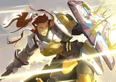 Overwatch - Brigitte by Nesskain hks The Art of Overwatch Comics Illustration, Illustrations, Game Character, Character Design, Brigitte Overwatch, Brigitte Lindholm, Overwatch Wallpapers, Overwatch Fan Art, Overwatch Drawings