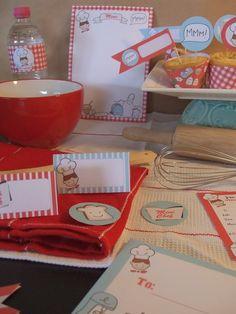 """Para la fiesta de la Sofi... """"chef party. LOVE this idea"""""""