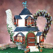 Tempting Teapot Veronica Romo of Boerne, TX, crafted beautiful details such as flowering vines and potted plants for her unique teapot gingerbread house. Gingerbread House Pictures, Cool Gingerbread Houses, Gingerbread Dough, Gingerbread Village, Christmas Gingerbread House, Gingerbread Cookies, Christmas Holidays, Christmas Ideas, Xmas
