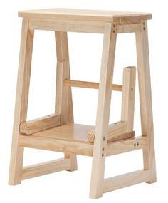 2 In 1 Stool With Foldout Step