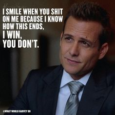 I love haters, it's always fun to win and stick it to them.  #whatwouldharveydo #harveyspecter #motivationalquotes #gabrielmacht #badass #work #game #winner #hustle #hustler #harveyspecterquotes