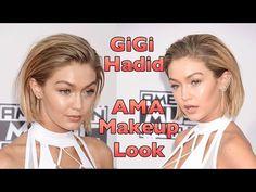 Gigi Hadid AMA Makeup Look - YouTube