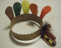 Native American Indian Headband Craft for Kids - Re-pinned by @PediaStaff – Please Visit http://ht.ly/63sNt for all our pediatric therapy pins