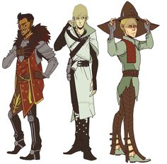 Clothes swap! Dorian, Cole and Cullen. Look at these adorable dorks!