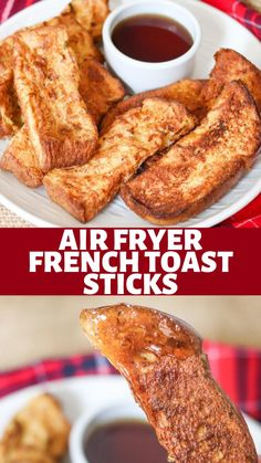 Air Fryer Oven Recipes, Air Frier Recipes, Air Fryer Dinner Recipes, Homemade French Toast, Easy French Toast, Healthy French Toast, French Toast Sticks, Air Fried Food, Best Breakfast Recipes