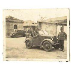 Foto original de militares japoneses en la guerra con China durante la Segunda Guerra Mundial