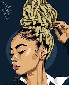 Wallpaper Android - Ilustrações Negras e Morenas lindas Black Love Art, Black Girl Art, Art Girl, Arte Aries, Trill Art, Black Girl Cartoon, Afrique Art, Black Art Pictures, Natural Hair Art