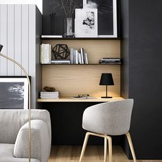 My new year's resolution is to finish decorating my apartment in 2017! This study nook by @openjournal_neometro, styled by @nina_provan, photographed by @blackhaus_studio is providing me with loads of inspiration. Can anyone in Brisbane recommend a good carpenter/joiner who can make custom shelving and desktop? I'm not sure where to begin…